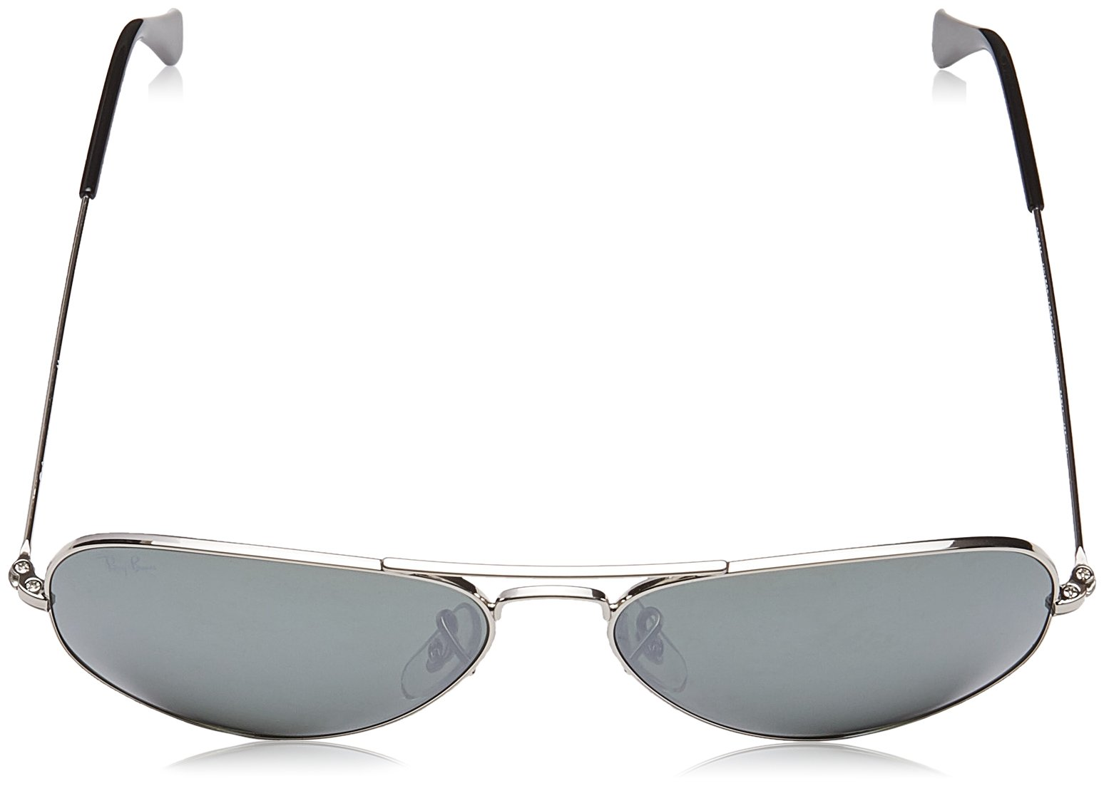 Ray-Ban 3025 Aviator Large Metal Mirrored Non-Polarized Sunglasses, Silver/Silver Mirror (W3277), 58mm by Ray-Ban (Image #4)