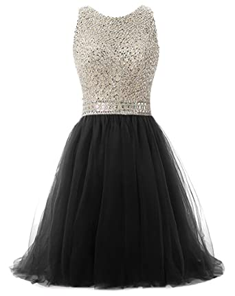 6c99902e93 Image Unavailable. Image not available for. Color  PROMLINK Women Tulle  Beaded Prom Homecoming Dress Short A-Line Party Gown