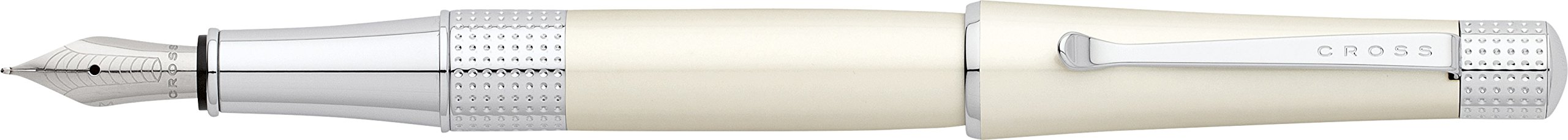 Cross Beverly Pearlescent White Lacquer Fountain Pen with...