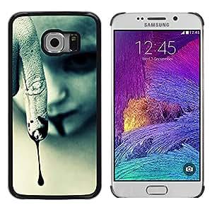 Caucho caso de Shell duro de la cubierta de accesorios de protección BY RAYDREAMMM - Samsung Galaxy S6 EDGE SM-G925 - Vampire Halloween Dark Goth