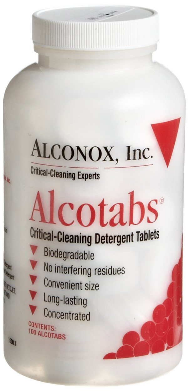 Alconox 1500 Alcotabs Critical Cleaning Detergent Tablet, 100 Tablet Bottle (Case of 6)