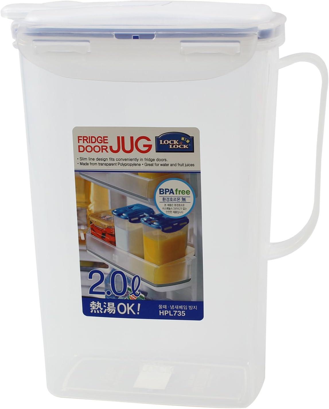 1.5 Litre Quality Plastic Fridge Door Jug With Lid For Water Juice Milk Drinks