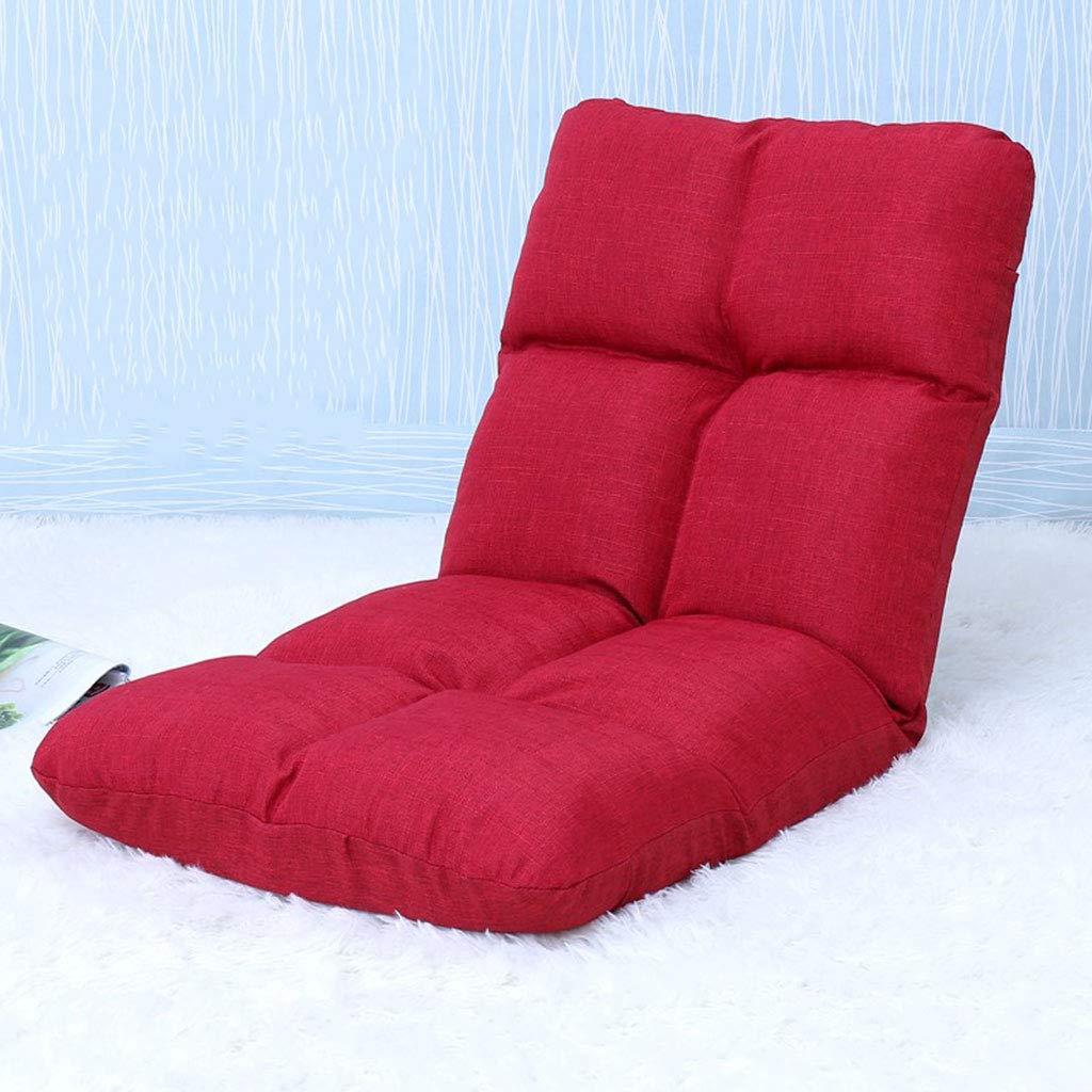 Floor Chair Lazy Chair Bay Window Bedroom Floor Foldable ( color   D )