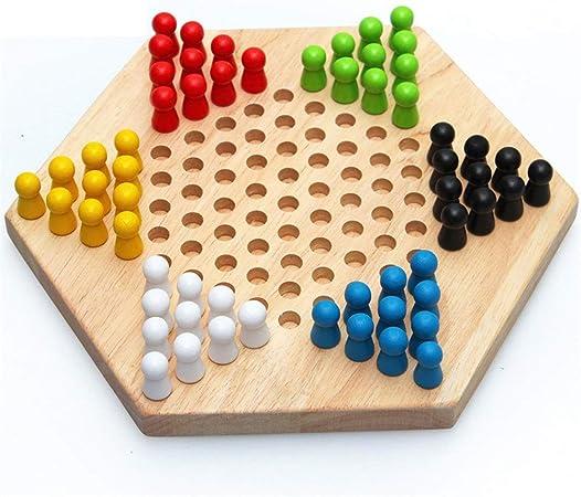 Juegos de mesa Madera de los inspectores chinos Conjunto tradicional del hexágono del inspector juego de