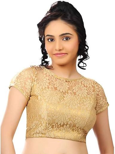 Designer Navy Blue Pure Cotton Blouse New Indian Designer Readymade Blouse For Women Wedding,Party Wear Saree Choli Top Tunic Sari Blouse