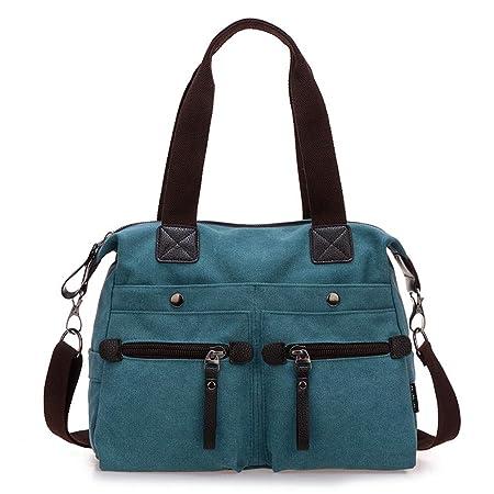 b607761e4574 Amazon.com: Ganabag Women Messenger Bag Canvas Shoulder Bag Black ...