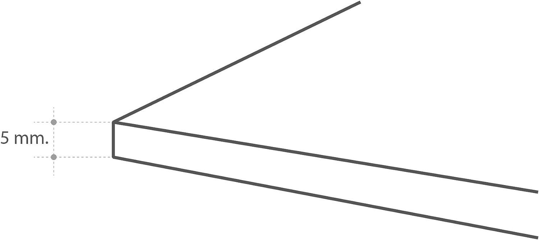 Testiera per Letto in PVC MEGADECOR Decorativa Struttura in Legno di Noce Scuro su tavolini Verticali Economica