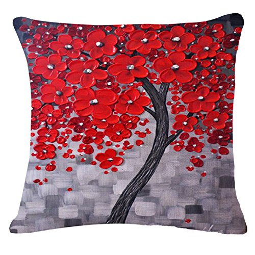 Painting Flower Cotton Cushion Decorative product image