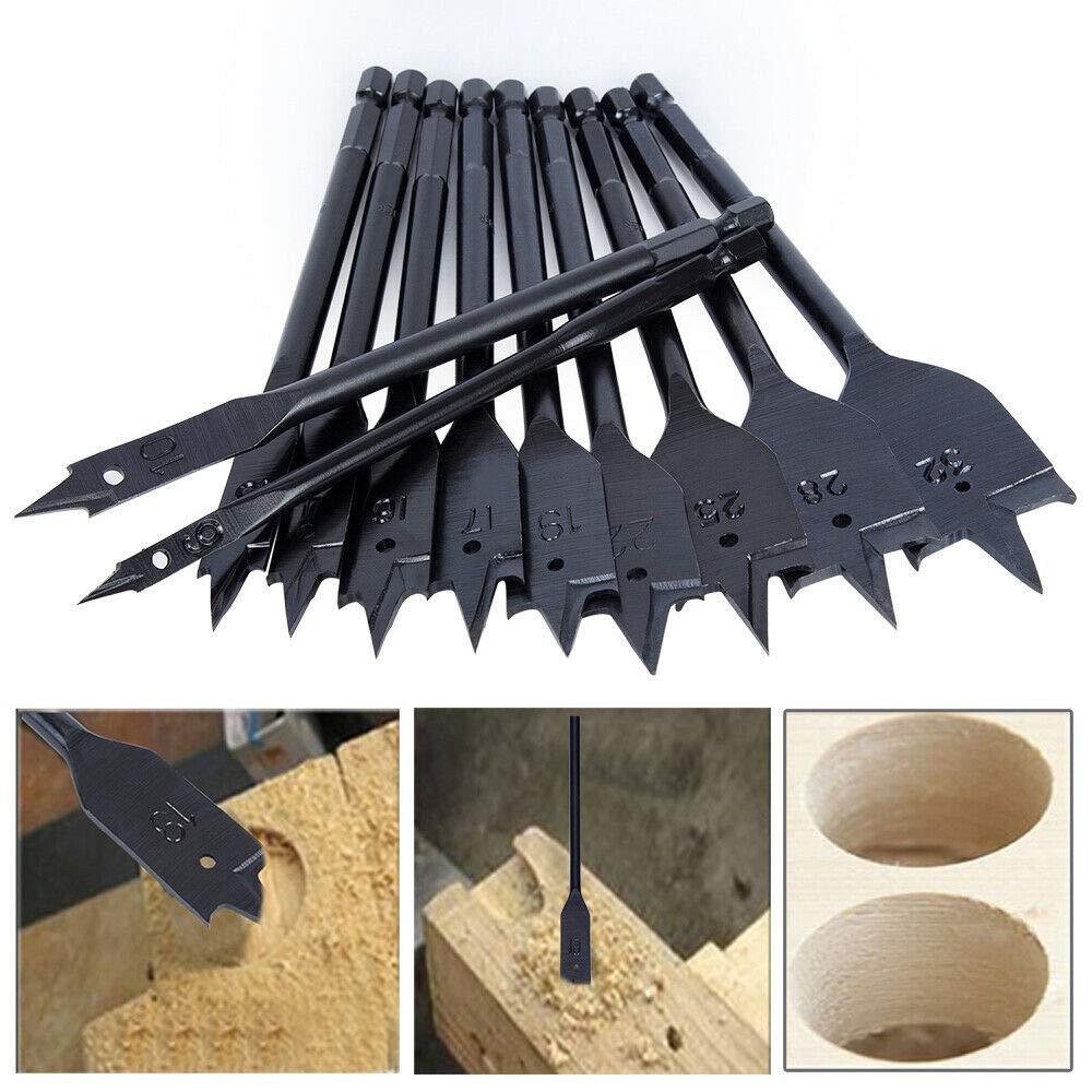 1x M/èches plates les panneaux de gypse queue 6 pans m/èches /à bois plates pour bois tendres et durs la caisse en mousse 38 mm le clinker