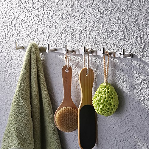 KES A2160H3-2 Bathroom Towel Rail/Rack with 3 Hooks Wall Mount SUS304 Stainless Steel, BRUSHED...