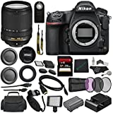 Nikon D850 DSLR Camera + Nikon AF-S DX NIKKOR 18-140mm f/3.5-5.6G ED VR Lens + 67mm 3 Piece Filter Set + 256GB SDXC Card + SD Card USB Reader + Professional 160 LED Video Light Studio Series Bundle