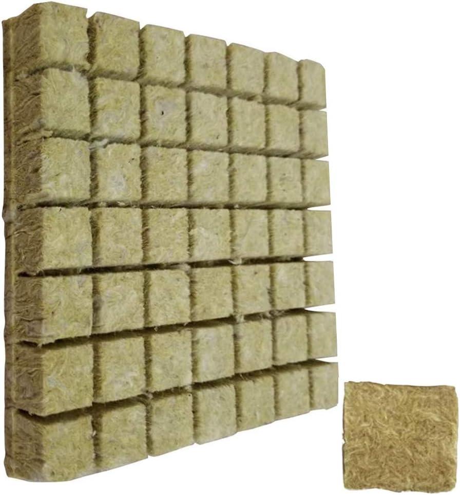 Grodan Hidropónico Buen Cubos por Hidroponía Agrícola Corte De Semillero Bloquear La Cultura Soilless Sustrato para Rockwool Arranque Tapones 50pcs