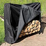 Sunnydaze 4-Foot Decorative Firewood Log Rack