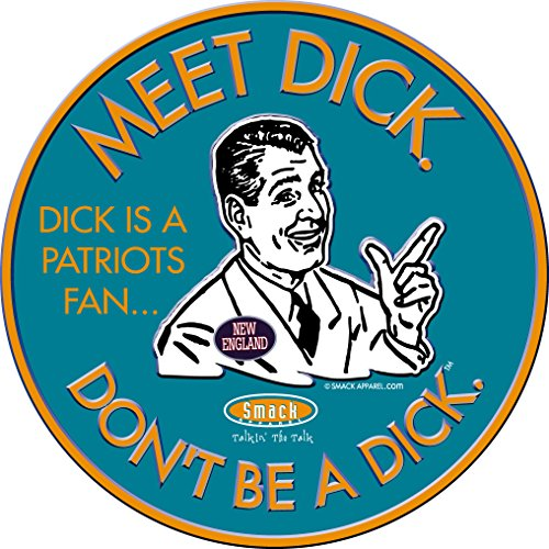 Nalie Sports Miami Football Fans. Don't Be A Dick. (Anti-New England). Embossed Metal Man Cave Sign
