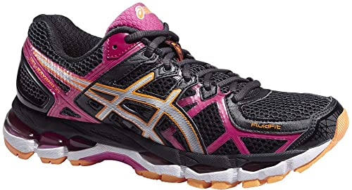 Black D WIDE FIT Womens Running Shoes Asics Gel Kayano 21