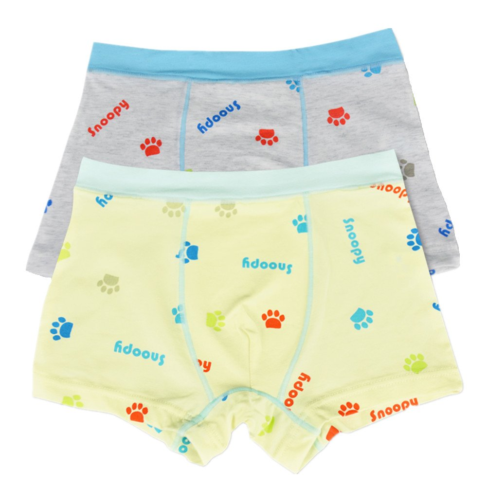 So Aromatherapy Boys Cotton Boxer Briefs Kids Ultra Soft Underwear Pack of 2 (9-10 Years, A)