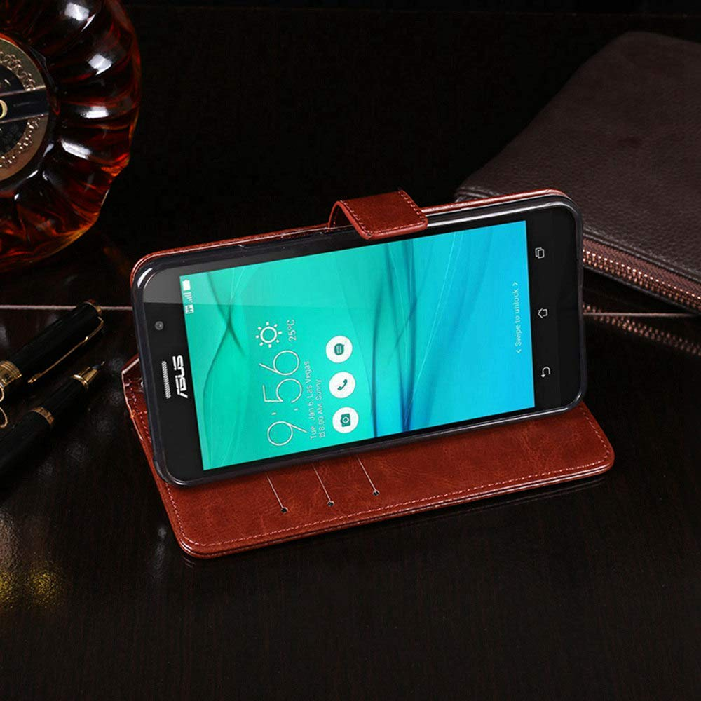 Amazon.com: Asus Zenfone Go ZB500KL Case, PU Leather Stand ...