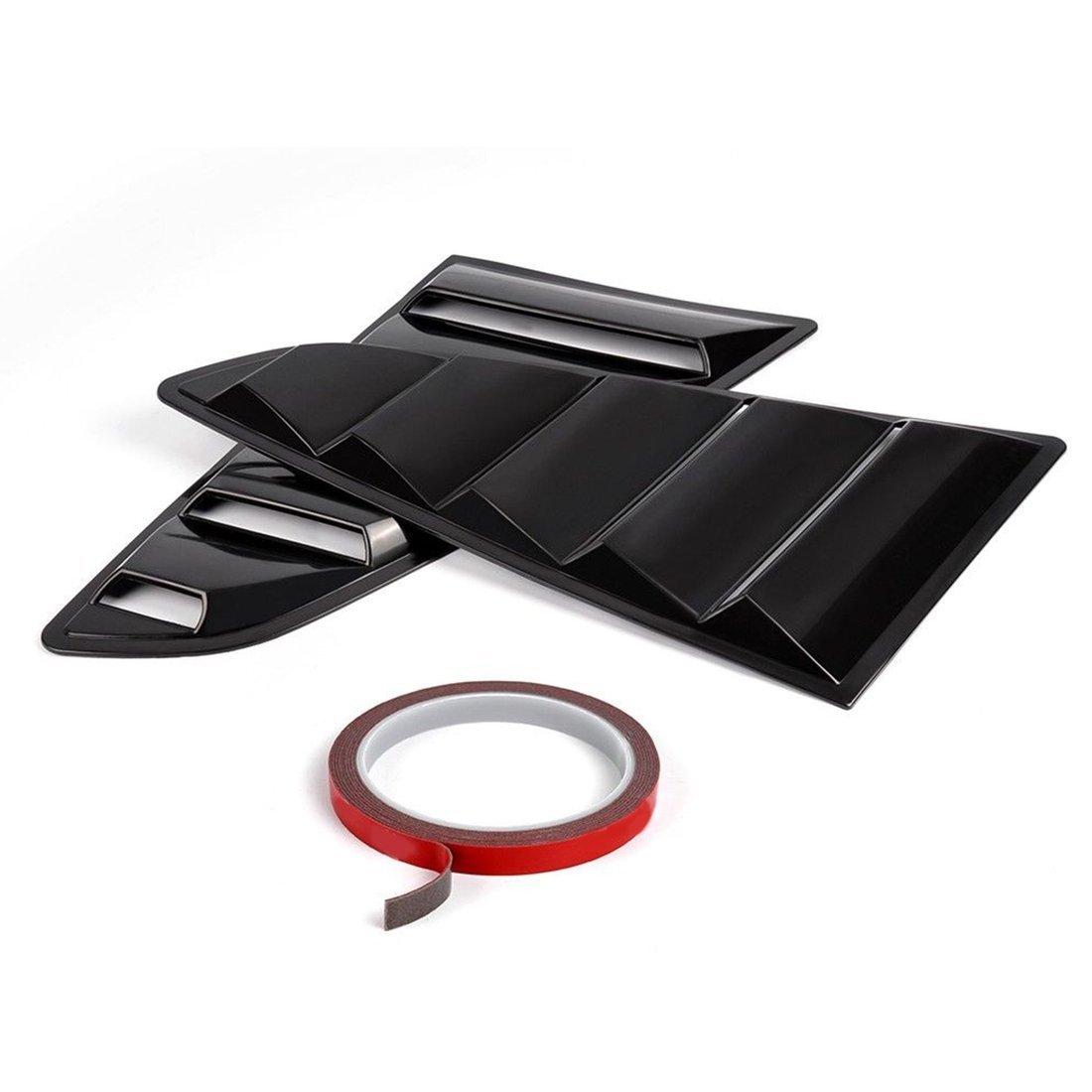 Luces de Ventana Laterales de Plata GT Style PP Ingot para Ford para Mustang 2015-2017 (Color: Negro) Dailyinshop