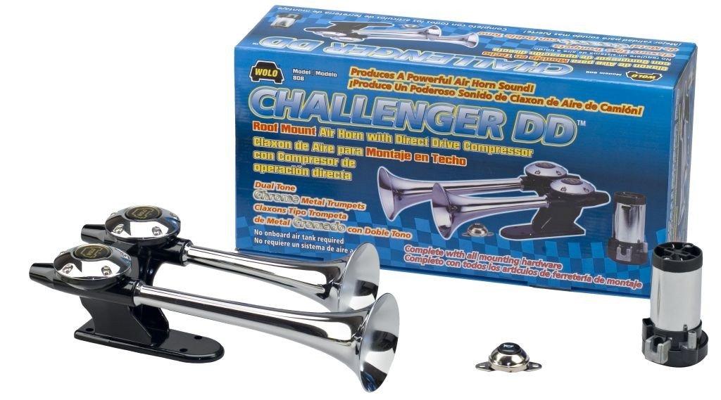 Amazon.com: Wolo (808) Challenger DD Chrome Finish Dual Trumpet Horn - 12 Volt, Dual Tone, Roof Mount: Automotive