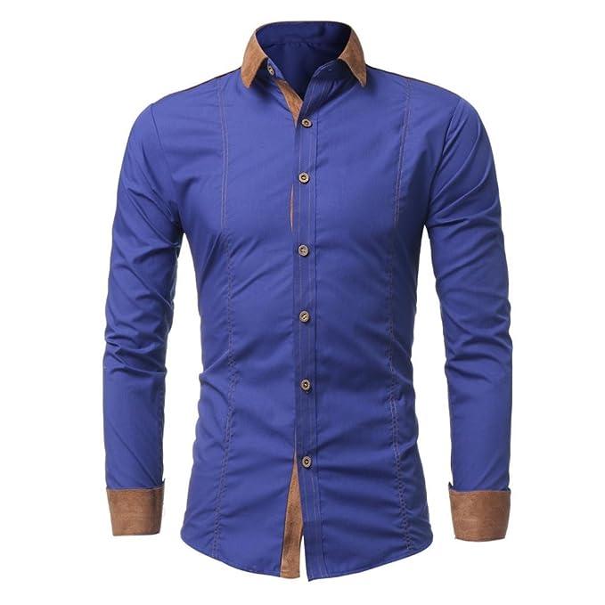 0da7f240cf998 Culater Camisas Manga Larga Hombre Negocios Casual Slim Fit Shirts  Amazon. es  Ropa y accesorios