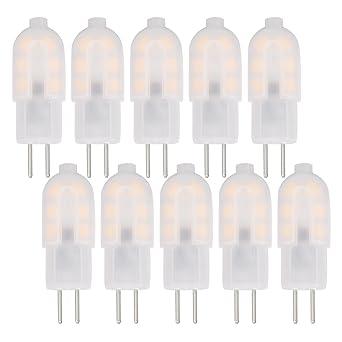 Jandcase - Bombillas LED G4 de 1 W, luz blanca cálida 3000 K, 125