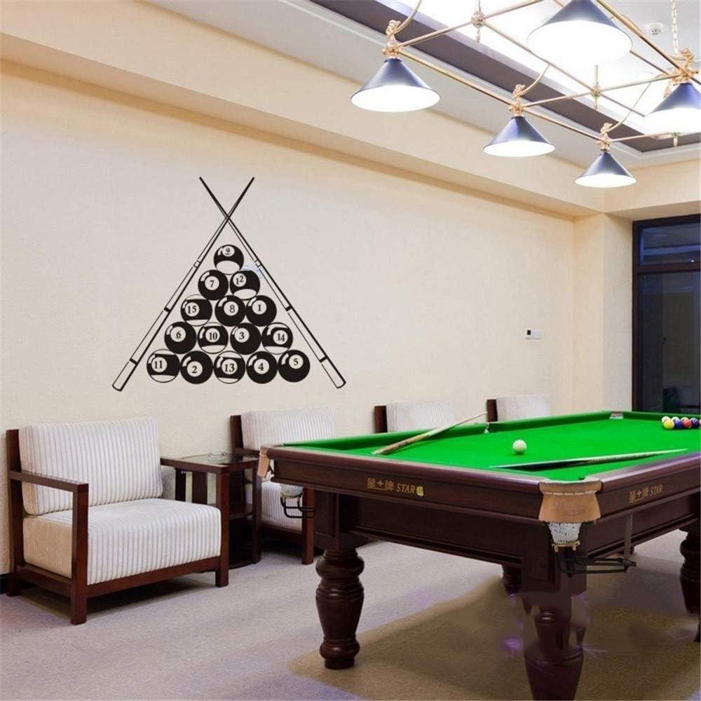 etiqueta de la pared Billar Sticker Snooker Decal Posters Parede Decor Mural Billar decoración para sala de billar: Amazon.es: Bricolaje y herramientas