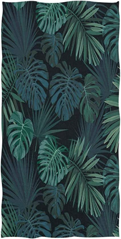 Hand Drawn Botanical Palm Leaves Soft Hand Towels Hawaiian Nature Jungle Green Scenery Bathroom Towel Quick Drying Absorbent Towel For Hand Face Gym Spa For Teen Girls Adults Travel Pool Gym Amazon Co Uk Kitchen