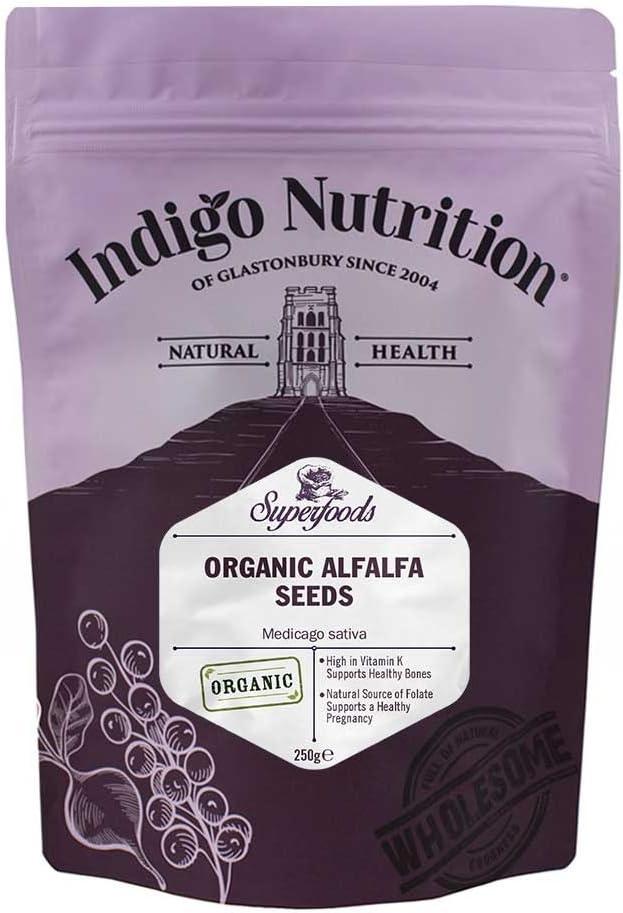 Indigo Herbs Semillas de Alfalfa Orgánica 250g