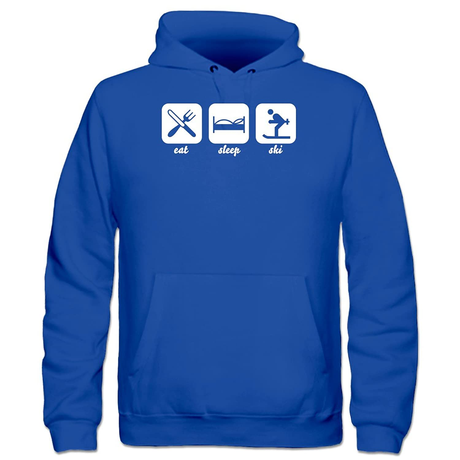 Eat Sleep Ski Kinder Kapuzenpulli by Shirtcity