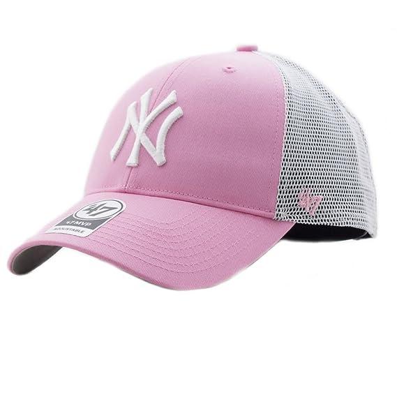 47 brand Cappellino Mlb New York Yankees Mvp Trucker rosa bianco formato   Regolabile f10fa36f18b8
