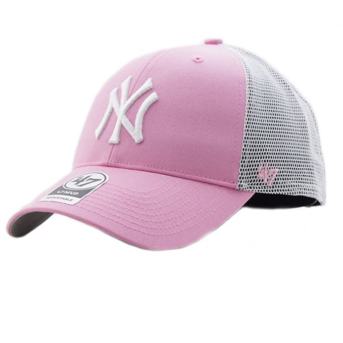 47_brand Gorra Mlb New York Yankees Mvp Trucker rosa/blanco talla: Ajustable: Amazon.es: Ropa y accesorios