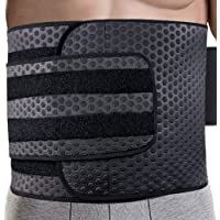 Waist Trimmer for Men   Ab Belt Widening Sauna Trainer with Double Adjusted Straps for Fitness Loss and Back Support Wide Sweat Adjustable Motion Splicing (Best Seller)