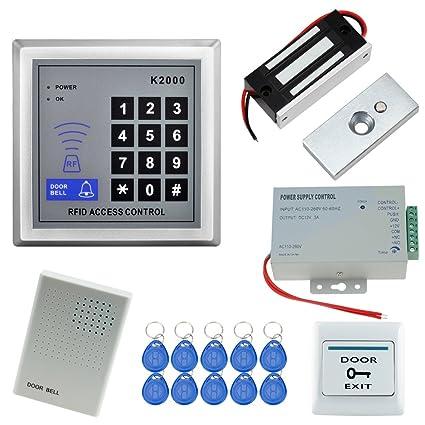 HFeng Kit de sistema de control de acceso de la puerta Teclado RFID Controlador de fuente
