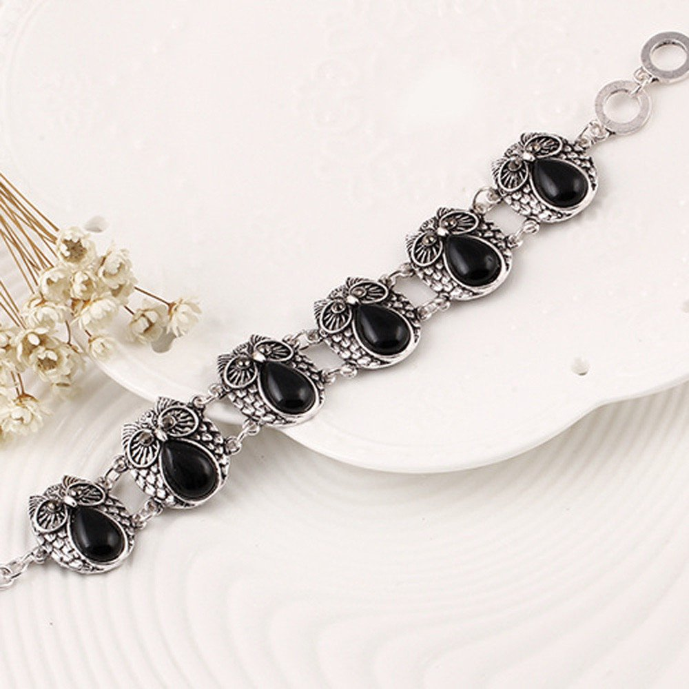 XiaoJing - Juego de collar y pulsera para mujer, diseño de búho ...