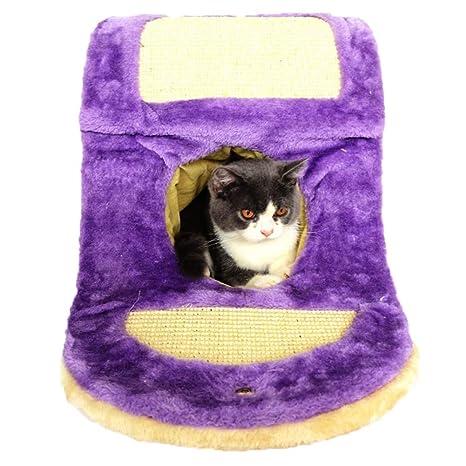 SHIJINHAO-Árbol de gato Cueva Rascador Túnel Diseño De Una ...