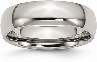 Diamond2deal Titanio lucidato 6mm wedding Band