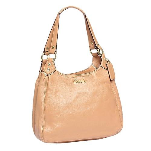 75fe0c3a60 Coach Ashley Leather Hobo Handbag - F21926 - Camel  Amazon.ca  Shoes    Handbags