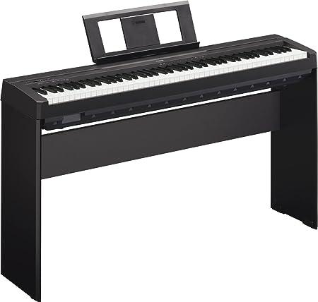 Yamaha P45 - Piano digital portátil, con atril