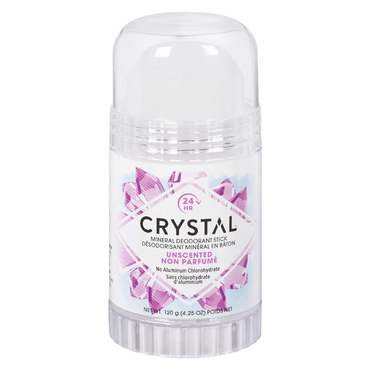 Crystal Mineral Deodorant Stick, Unscented, 4.25 oz