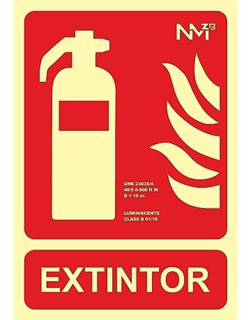 Normaluz RD00101- Señal Extintor, Extinción Homologada de Alta Calidad, 21x 30 cm,