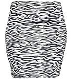 KMystic Basic Mini Skirt With Wide Waist Band (Medium, Zebra)