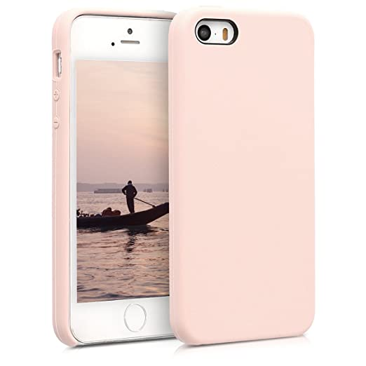 kwmobile Apple iPhone SE / 5 / 5S Hülle - Handyhülle für Apple iPhone SE / 5 / 5S - Handy Case in Altrosa