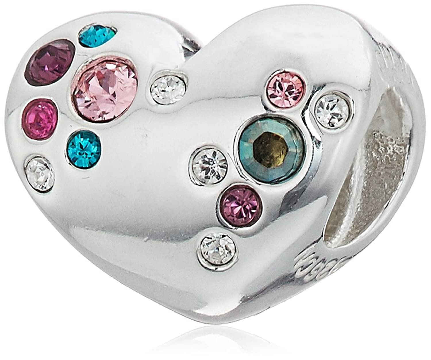 Chamilia Crystal Cluster Heart Bead Charm