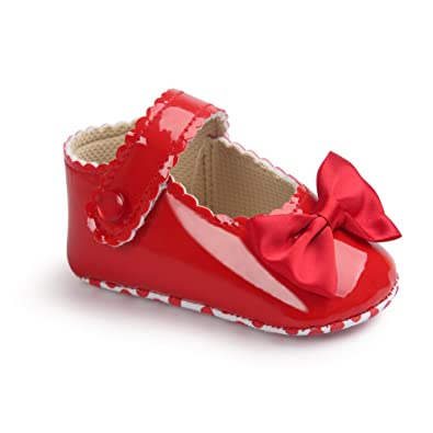 Amazon.com: firefrog bebé niñas Burnish Patent Pu piel ...