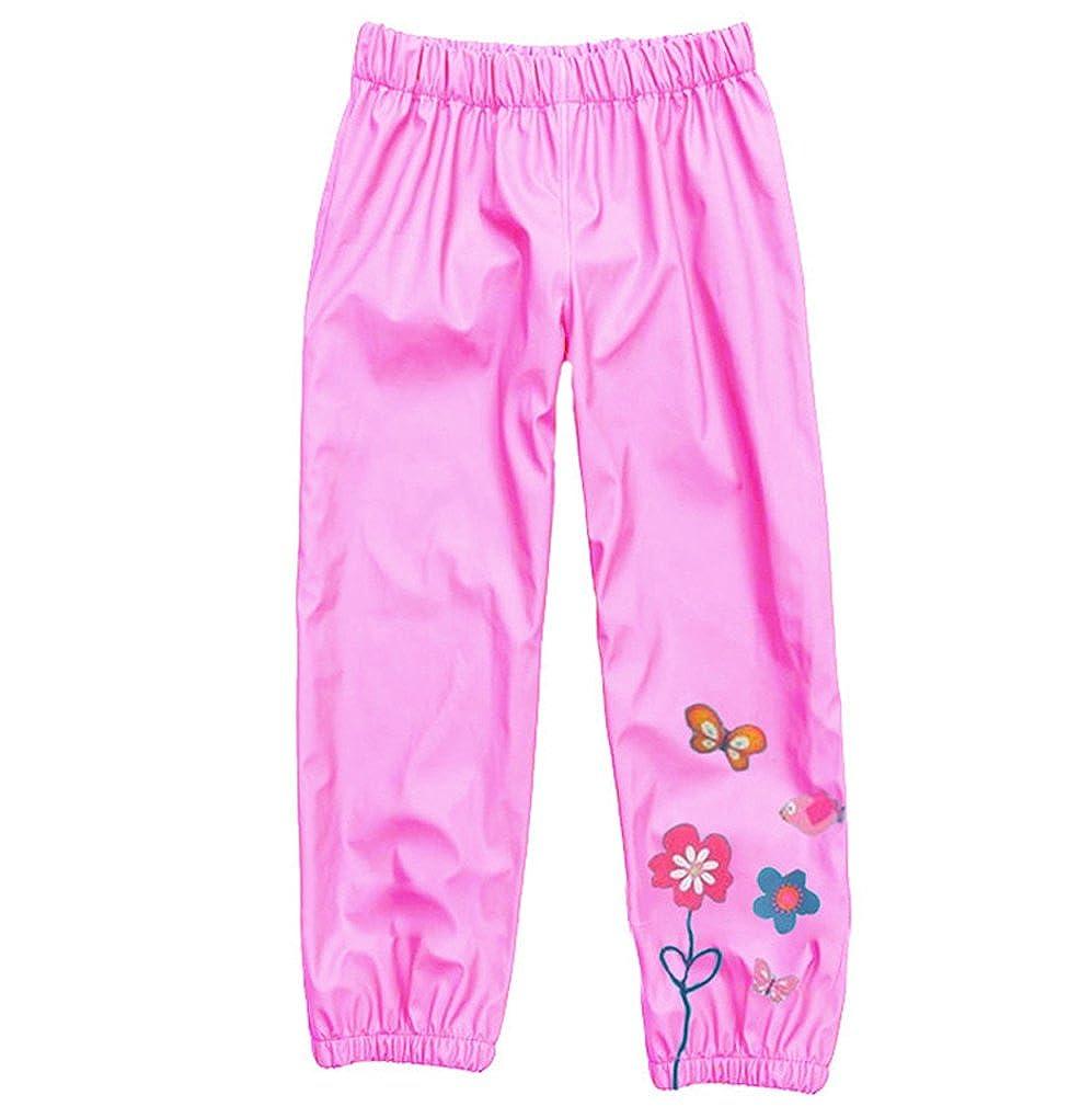 AmyStylish Little Girls Kids Waterproof Outdoor Hoodied Coat Jacket RainCoat//Pants