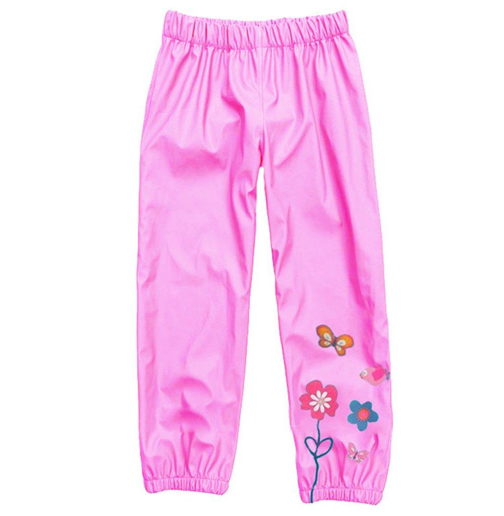 AmyStylish Little Girls Kids Waterproof Pink Pants L6
