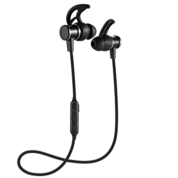Auriculares Bluetooth Busuo Cascos Bluetooth magnéticos y deportivos, Auriculares inalámbricos con Bluetooth 4.1 para running (resistentes al sudor, ...