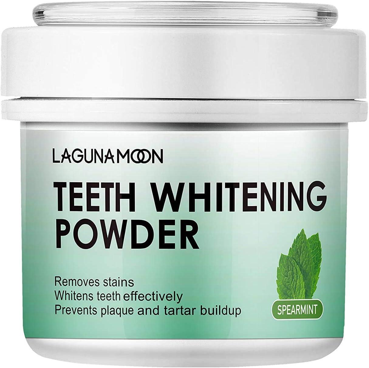 Lagunamoon Blanqueamiento Dental de Polvo de Perla, Polvo para Dientes Natural, Teeth Whitening 50g