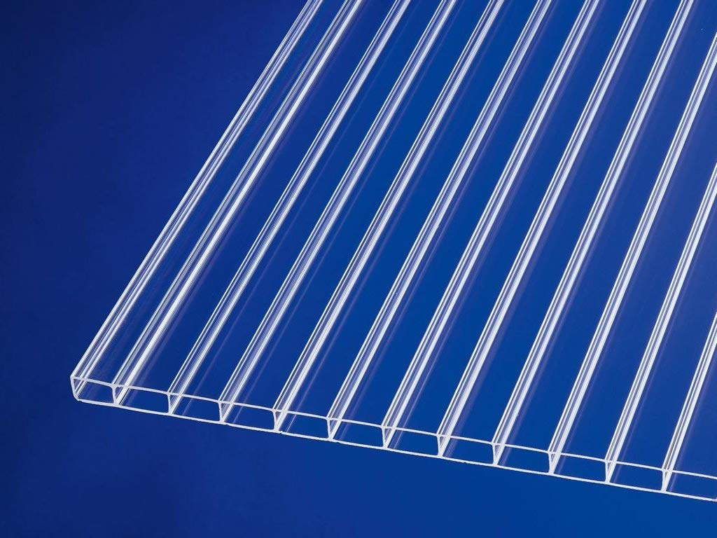B x T Stegplatte aus Polycarbonat |Doppelstegplatte| longlife Deluxe| 16mm stark Hagelsicher bis 40mm Hagelkorndurchmesser |Steg 3 Fach 16//32 1200mm x 3500mm