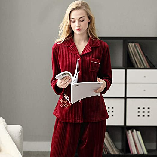 GAOHAILONG Pijama De Mujer Pijama Cálido De Invierno Talla Grande ...